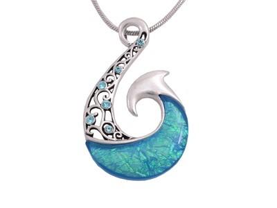 Blue Fish - Hook Pendant