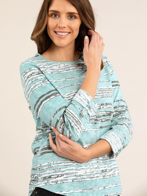 Irregular Stripe Knit Top