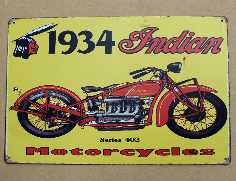Indian Motorcycle - Tin Sign
