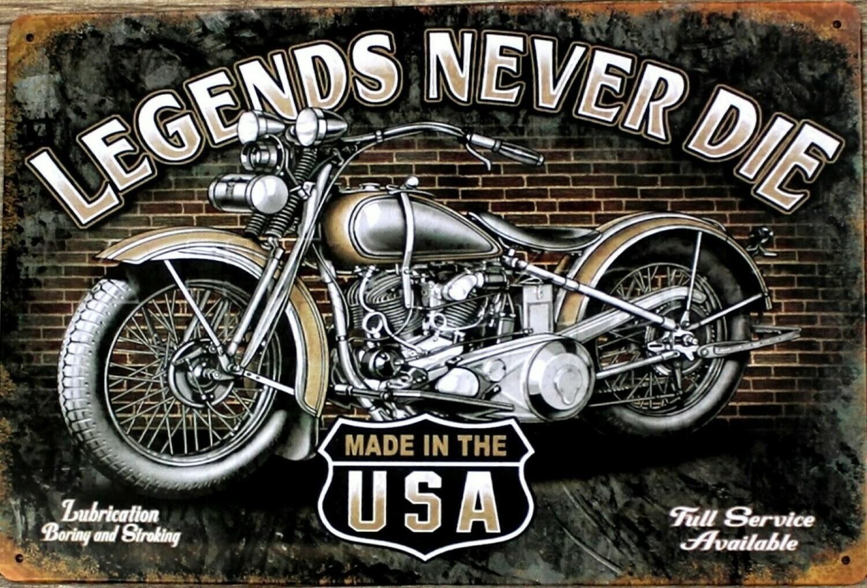 Legends Never Die - Tin Sign