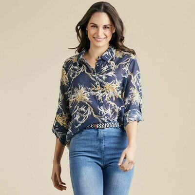Floral Denim Print Shirt