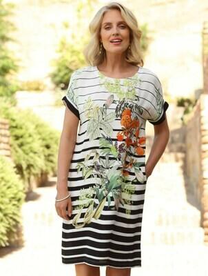 Safari Stripe Tunic Dress