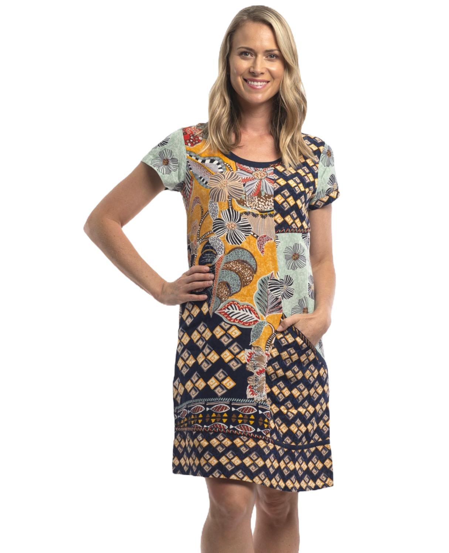 Andalucia Short Sleeve Dress