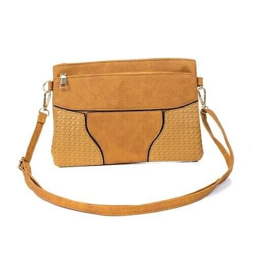 Mustard Clutch/Shoulder Bag