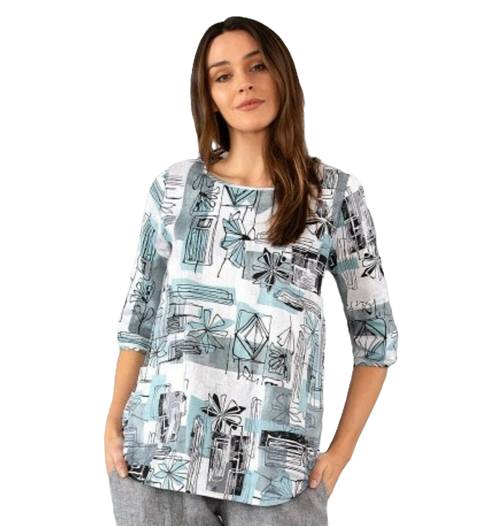 Flower Patch Print Top