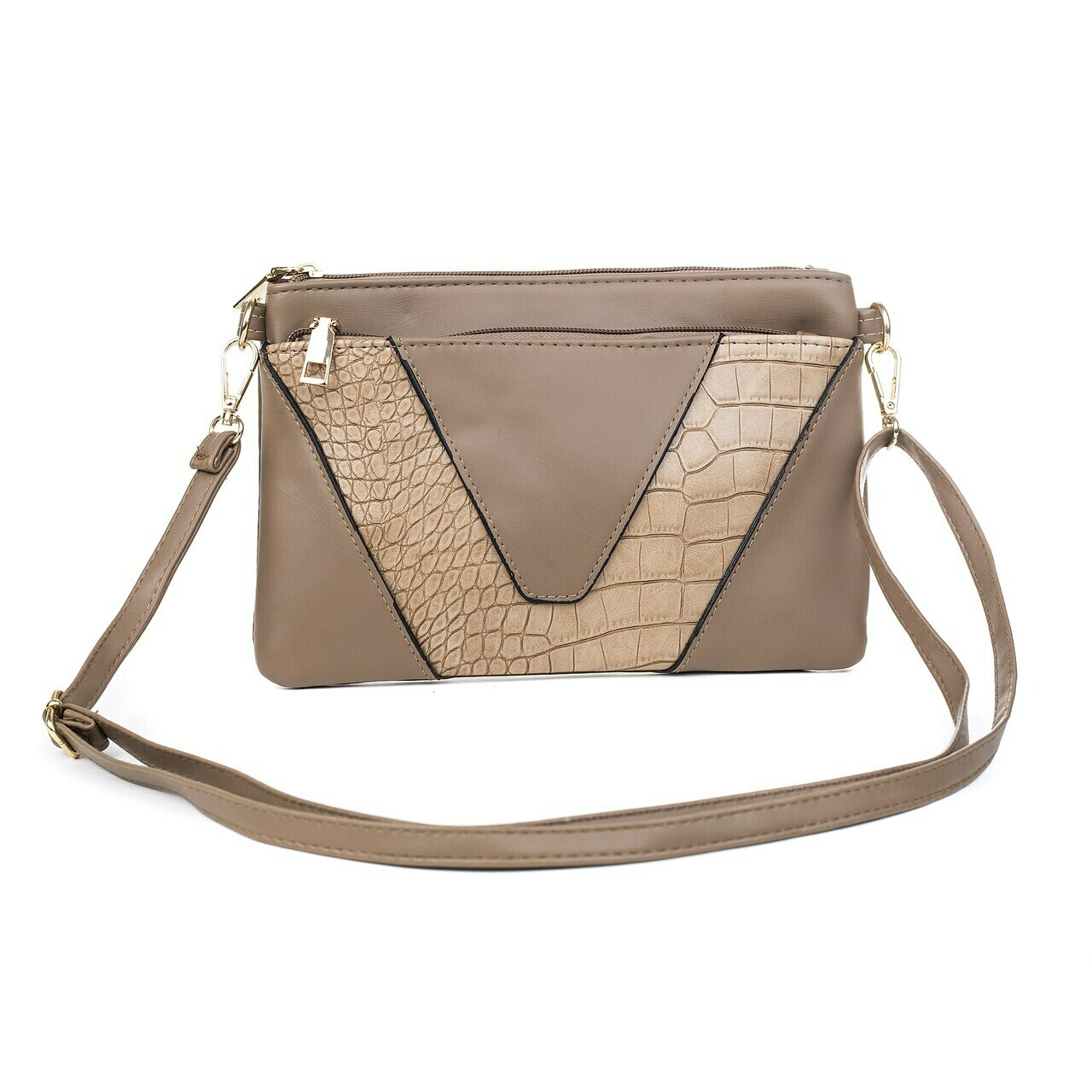Coffee Clutch/Shoulder Bag