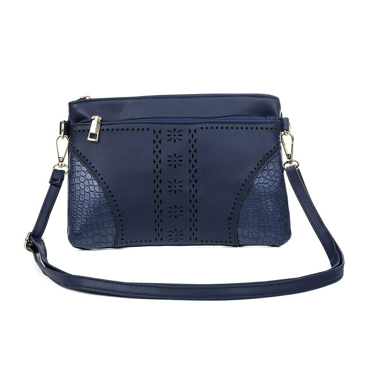 Navy Clutch/Shoulder Bag