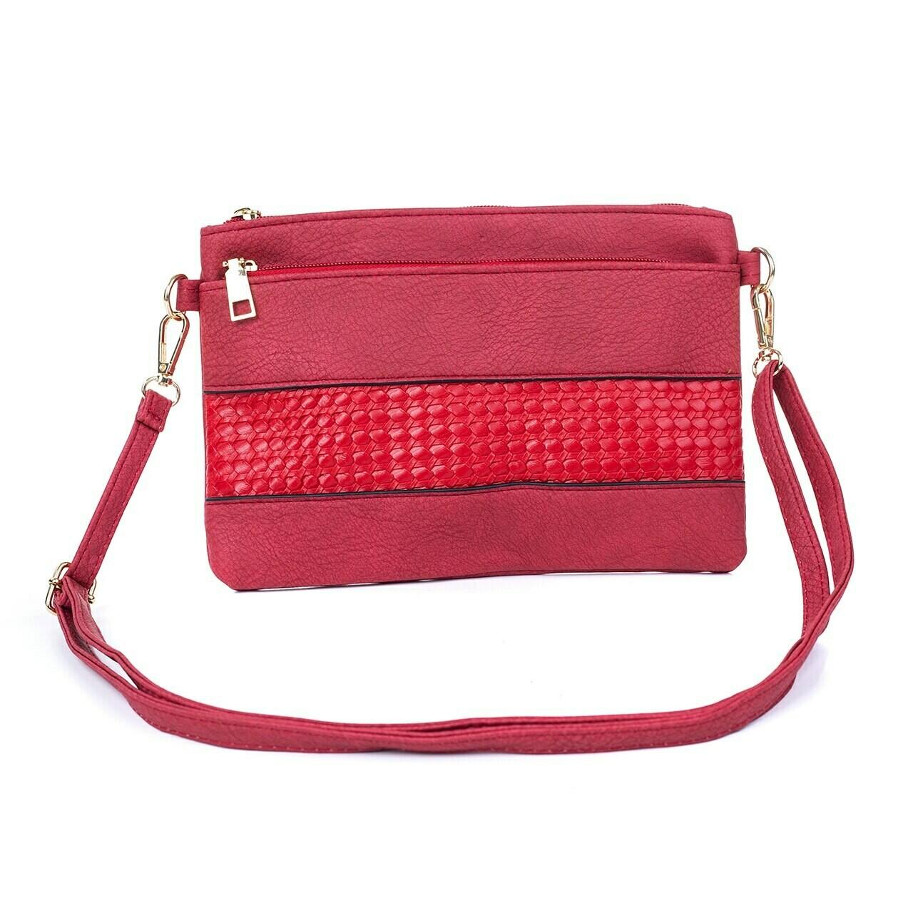 Red Clutch/Shoulder Bag