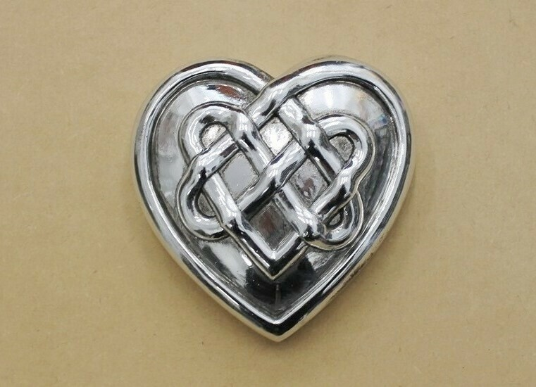 Silver Hanging Wall Heart