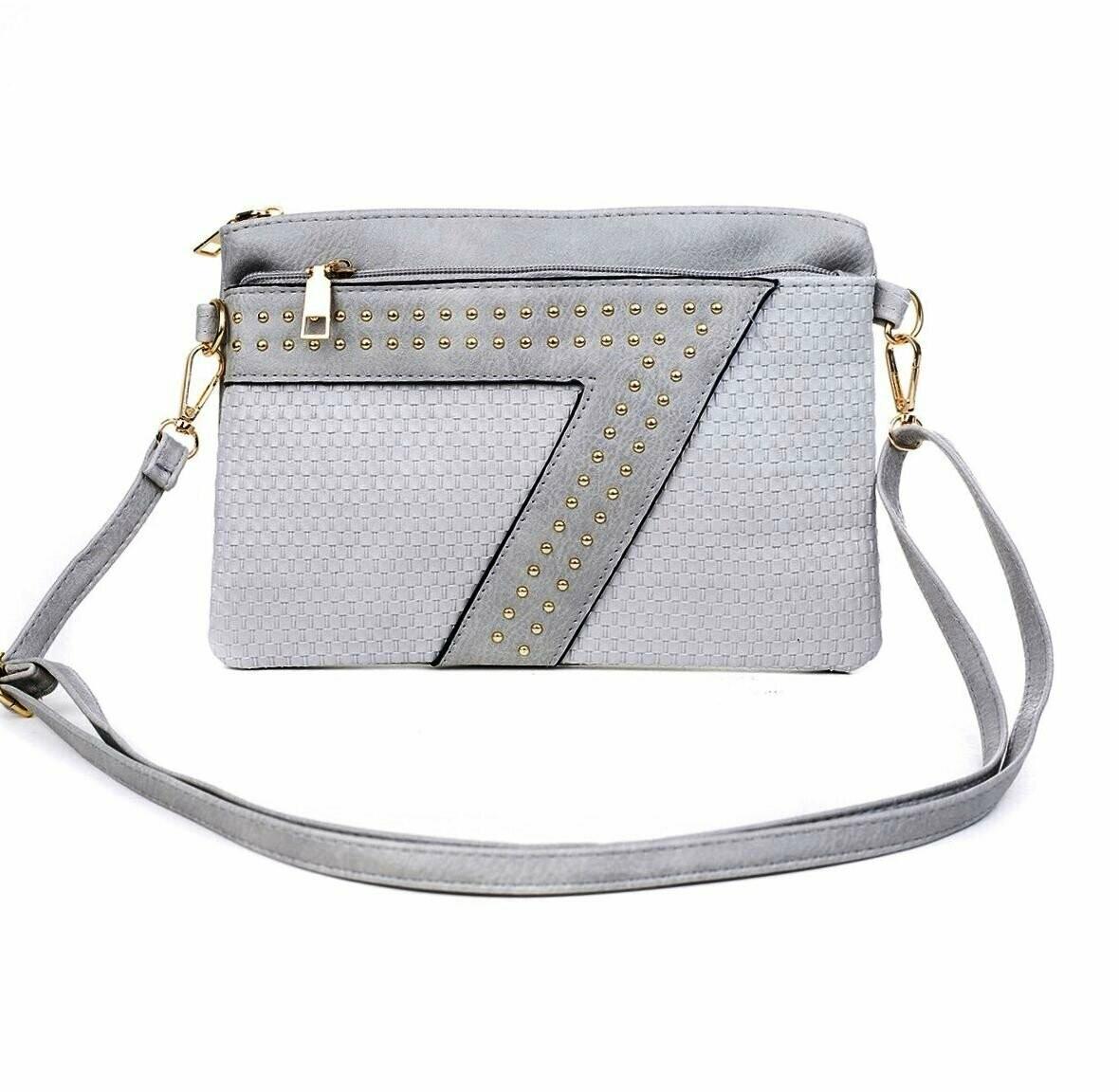 Grey Clutch/Shoulder Bag