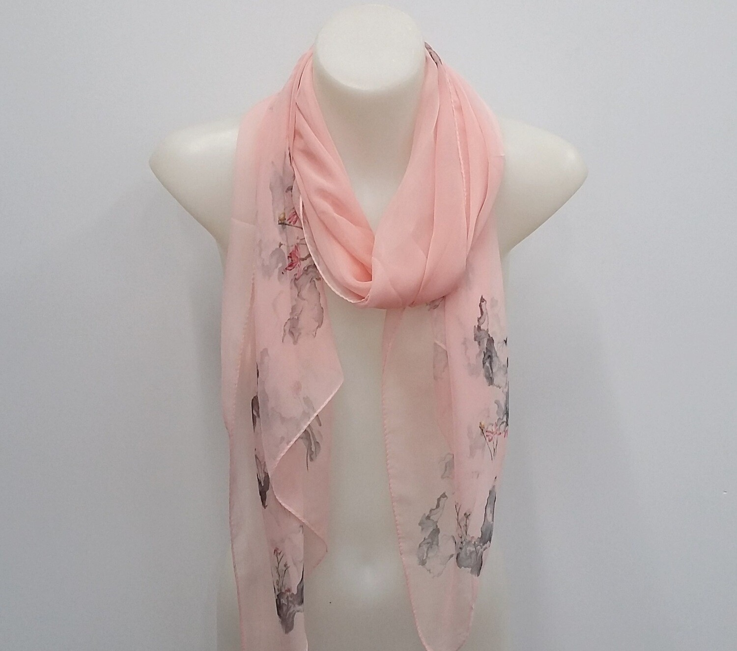 Soft Salmon Scarf