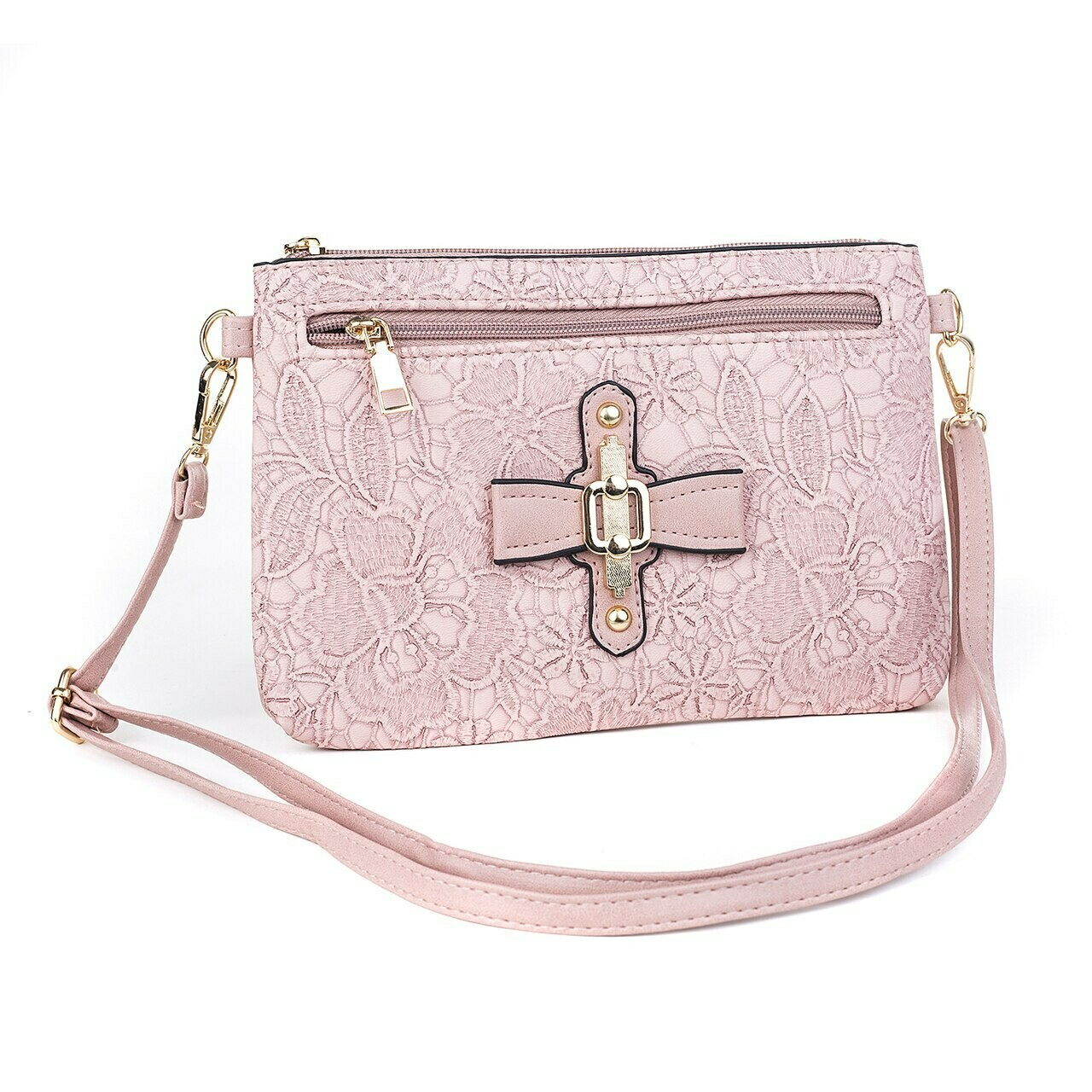 Pink Clutch/Shoulder Bag