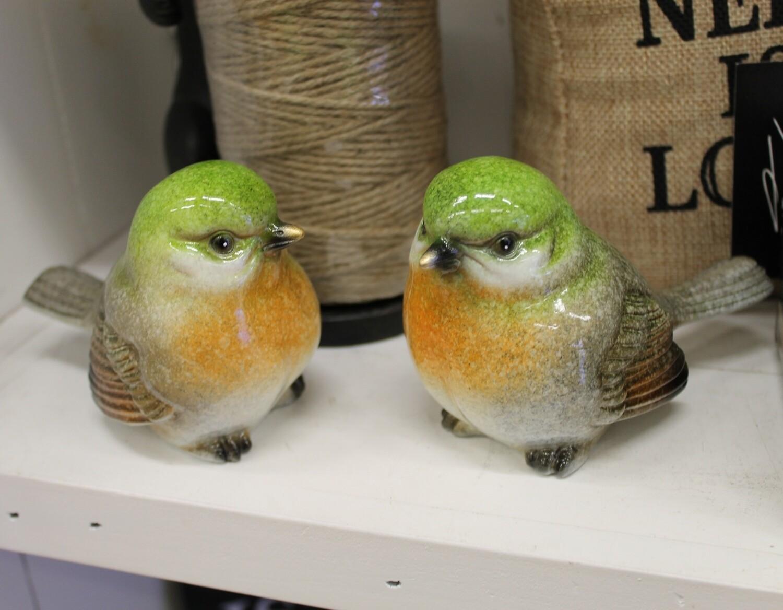 Set of 2 Green Birds