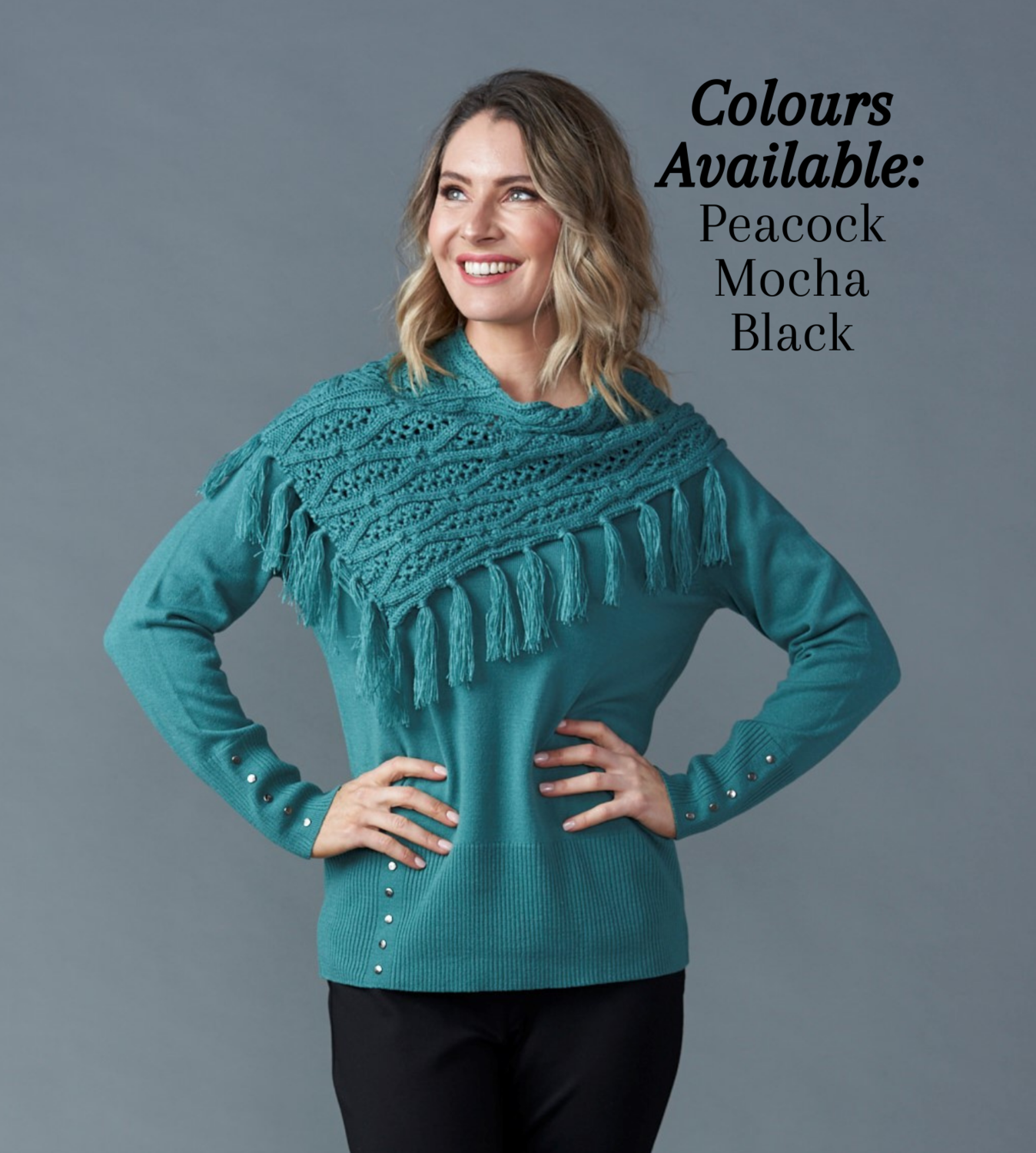 Jersey with Separate Snood - 3 Colours Available