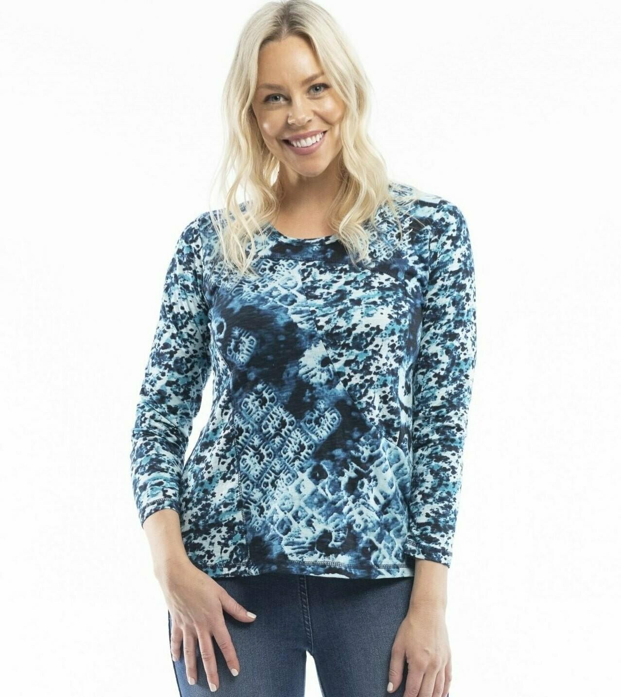 Mdina Blue Knit Top