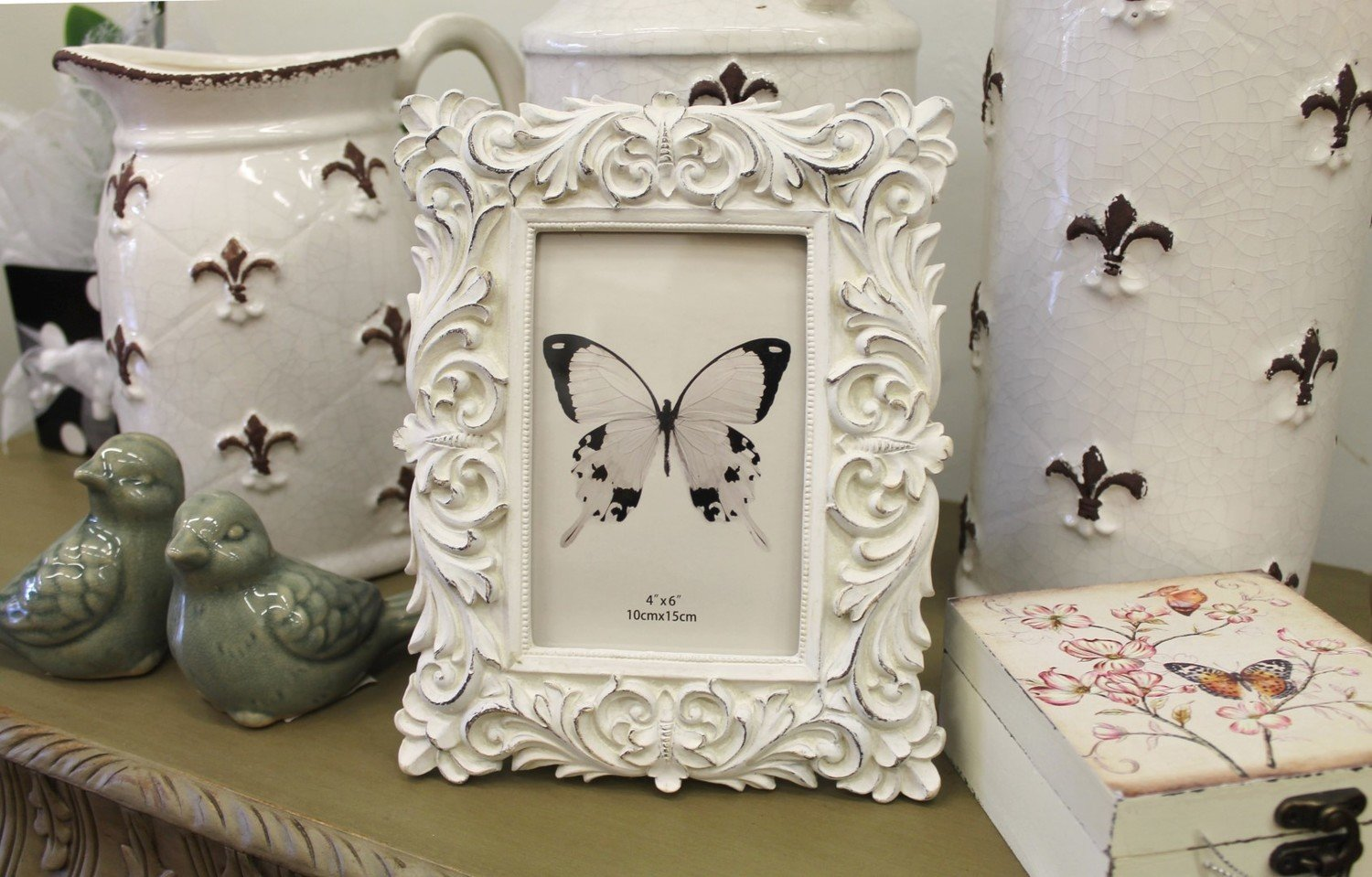 Cream Engraved Photo Frame