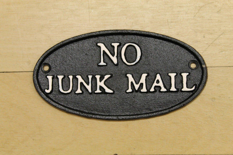 No Junk Mail Plaque