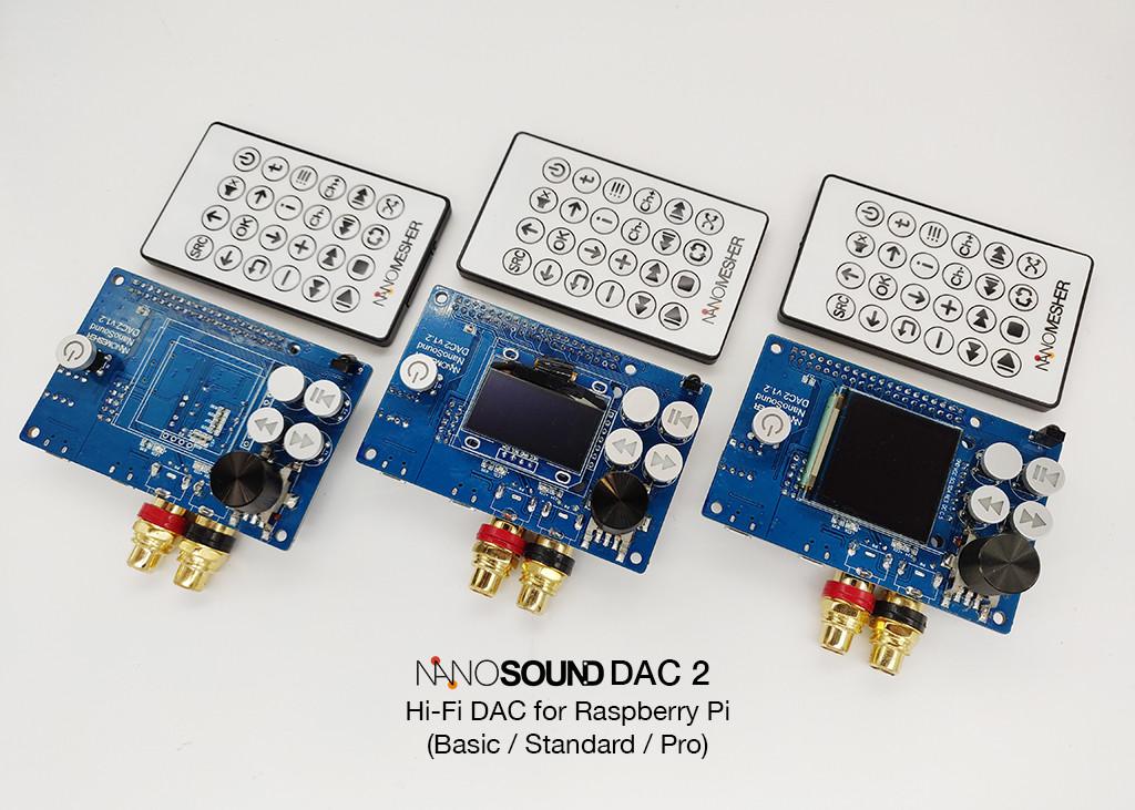 *NEW* NanoSound DAC 2s (Basic / Standard / Pro)