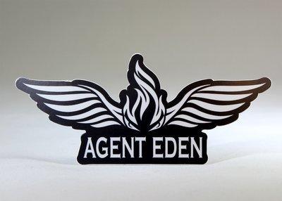 Agent Eden Die Cut Sticker