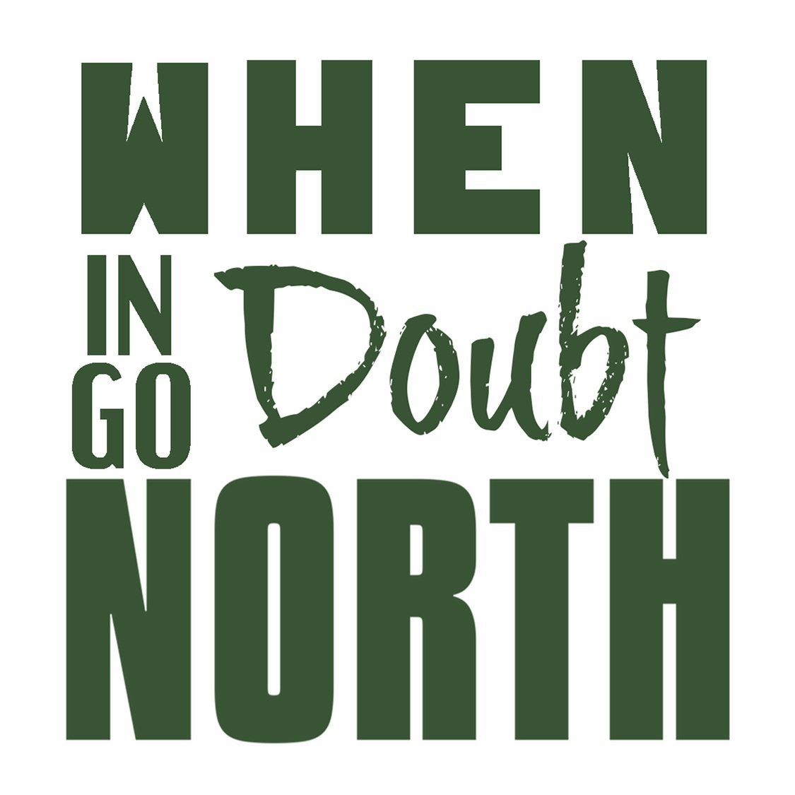 Go North Sticker