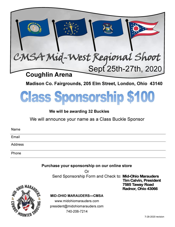 Buckle Sponsor - CMSA Mid-West Regionals