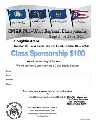 #Buckle Sponsor - CMSA Mid-West Regionals