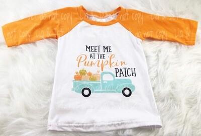 Pumpkin patch Raglan- orange