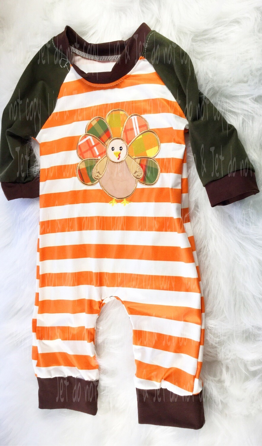 Stripes & Plaid Turkey Romper