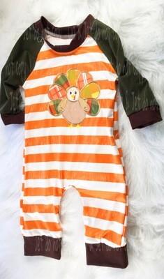 Stripes & Plaid Turkey Romper