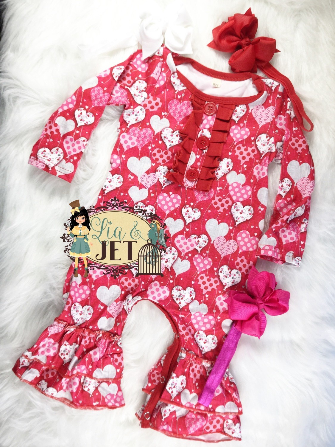 Love is in the Air- Romper