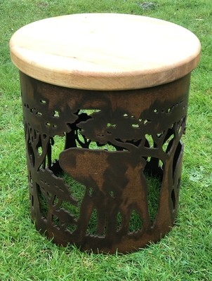 Carved Stool - Africa Design