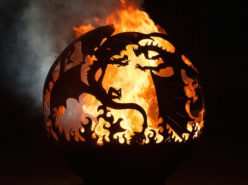 650mm Fighting Dragons Firepit