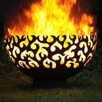 900mm Flame Firepit Bowl