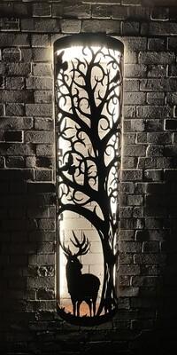 Wall Mounted Beacon - Stag & Eglish Tree