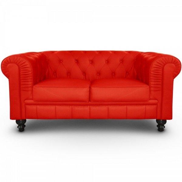 Sofa Chester Vermell Ferrari 2 places