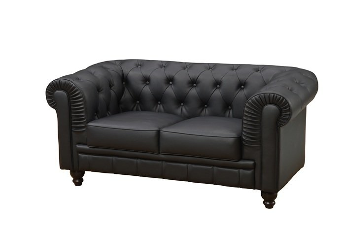 Sofa Chester Negre 2 places