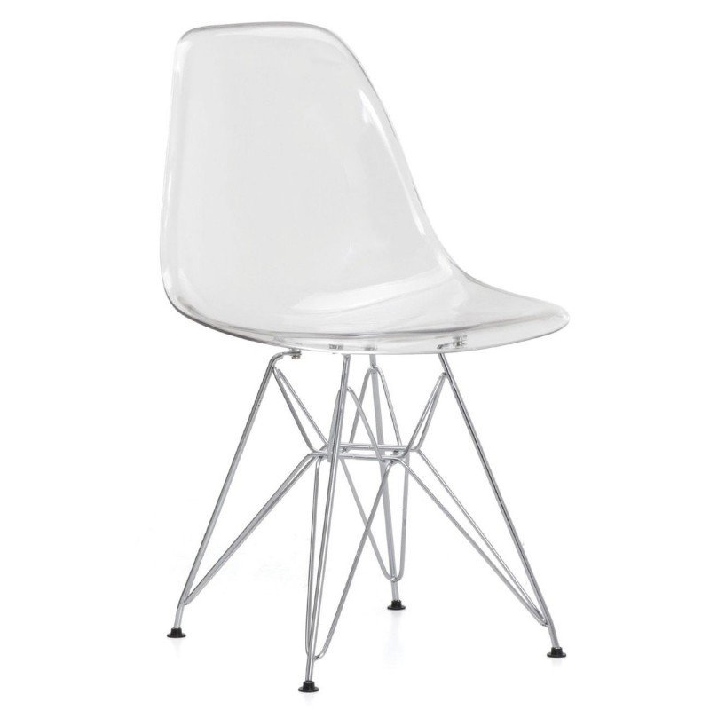 Cadira Tower Crom Transparent