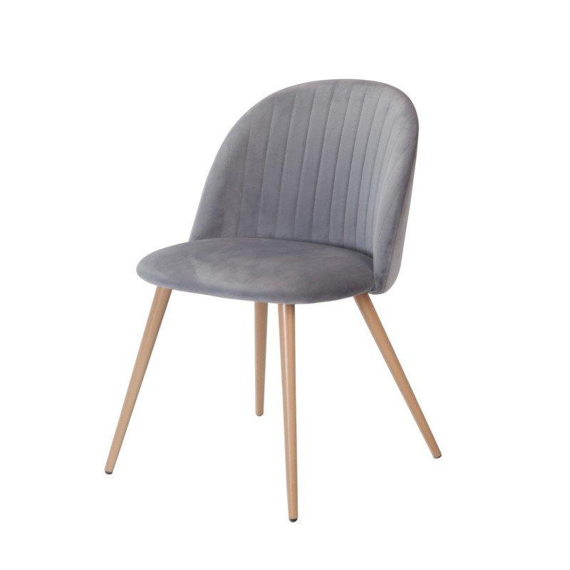 Cadira Velvet Gris