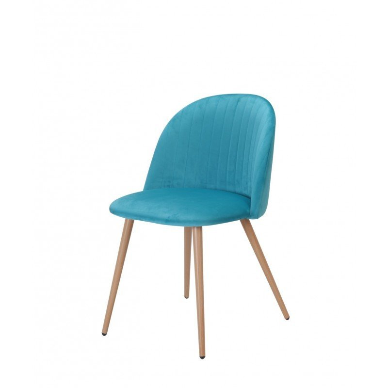 Cadira Velvet Turquesa