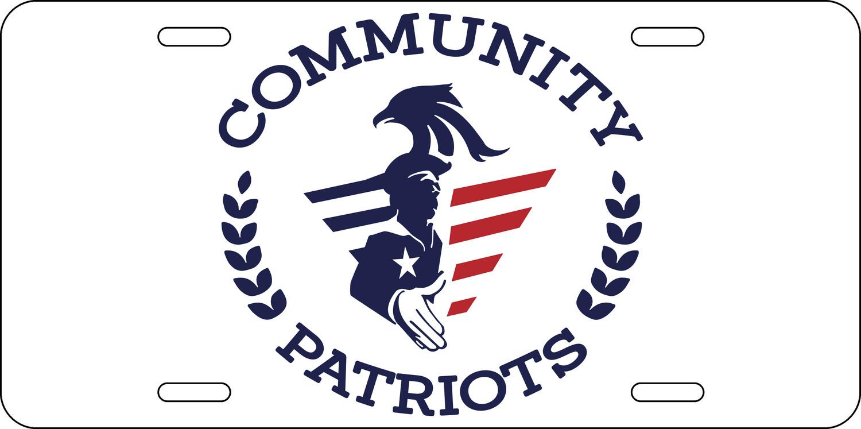Community Patriots License Plate