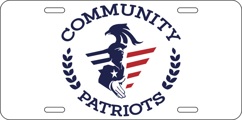Community Patriots License Plate