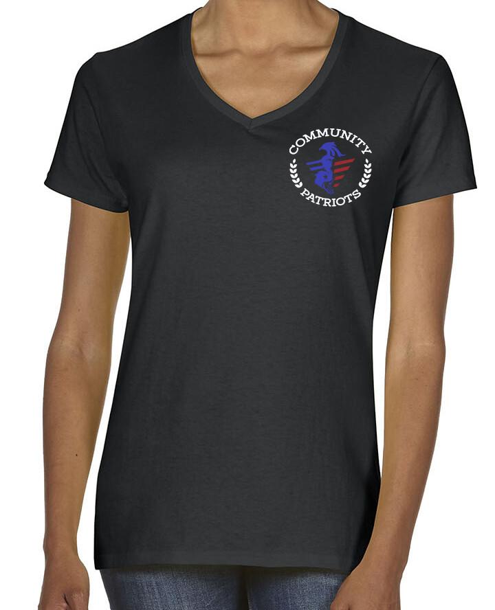 Community Patriots Ladies V Neck shirt