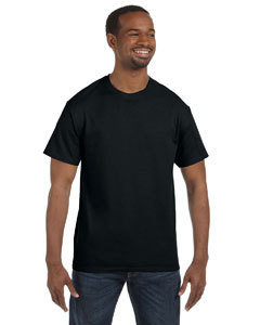 Mens Gildan T Shirt with vinyl logo on front and back