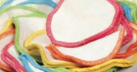 Disque à démaquiller réutilisable en coton biologique