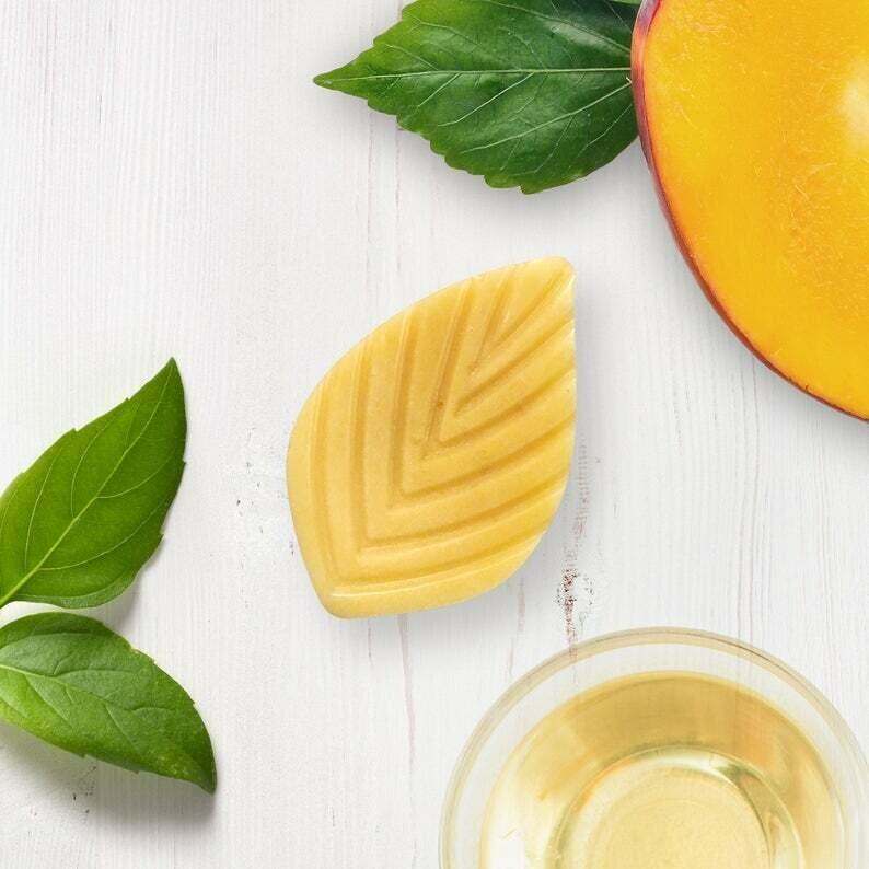 Liliblanc - Revitalisant solide mangue et basilic en barre 24g