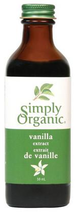 Simply Organic - Extrait de vanille biologique 59ml(sans Alcool)