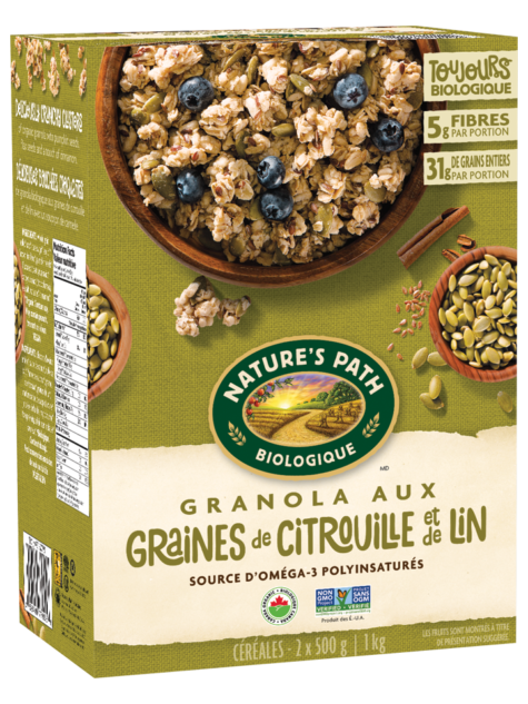 Nature's Path - Granola flax plus graines citrouilles biologique 1Kg Vrac