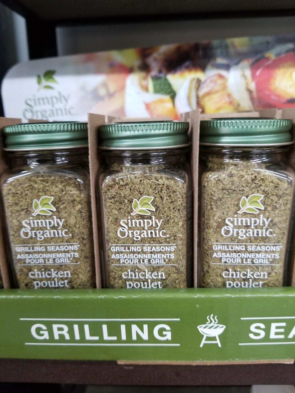 Simply Organic - Assaisonnements pour le gril au poulet bio
