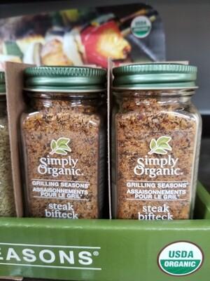 Simply Organic - Assaisonnements pour le gril bifteck bio