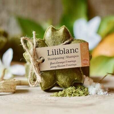 Liliblanc -Shampoing Solide Fleur d'oranger & Moringa